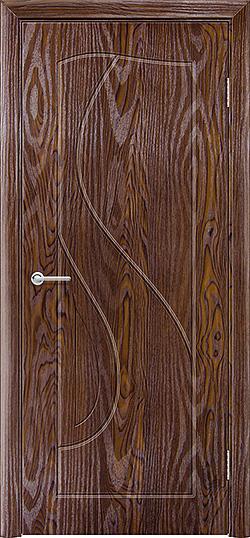 Межкомнатная дверь ПВХ Премьера дуб шоколадный 3