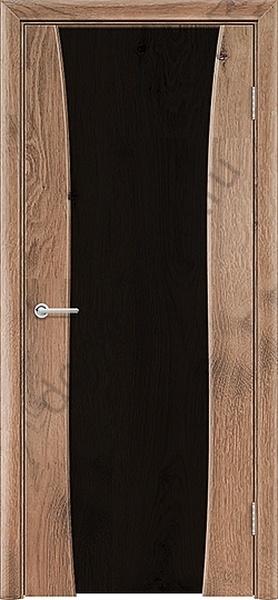 Межкомнатная дверь ПВХ Престиж светлый орех 3