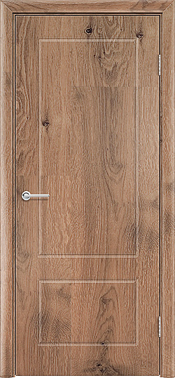 Межкомнатная дверь ПВХ Ромарио 2 светлый орех 3
