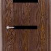 Межкомнатная дверь ПВХ Овал ель карпатская 1