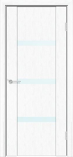 Межкомнатная дверь ПВХ Стиль 2 белая патина 3