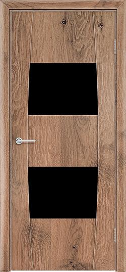 Межкомнатная дверь ПВХ Стиль 4 светлый орех 1