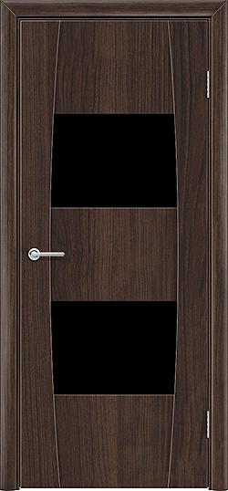 Межкомнатная дверь ПВХ Стиль 4 темный орех 3