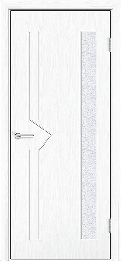 Межкомнатная дверь ПВХ Стрела белая патина 1