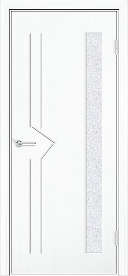 Межкомнатная дверь ПВХ Стрела белая 3