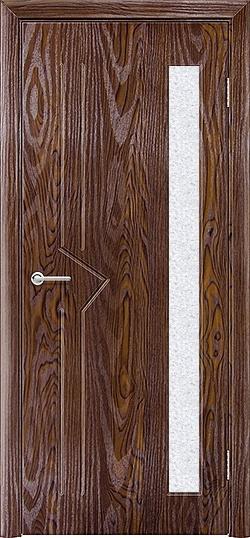 Межкомнатная дверь ПВХ Стрела дуб шоколадный 3