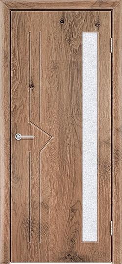 Межкомнатная дверь ПВХ Стрела светлый орех 3