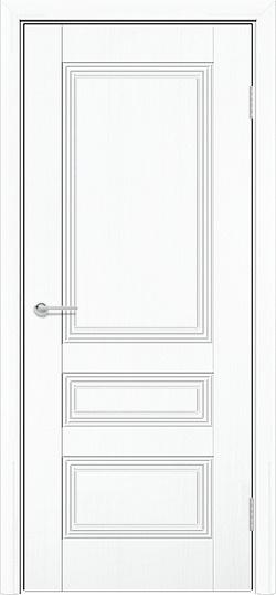 Межкомнатная дверь ПВХ Вектор белый 3