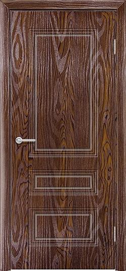 Межкомнатная дверь ПВХ Вектор дуб шоколадный 3