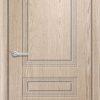 Межкомнатная дверь ПВХ Латино дуб шоколадный 1