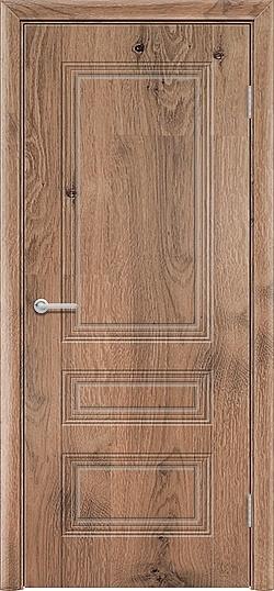 Межкомнатная дверь ПВХ Вектор светлый орех 3
