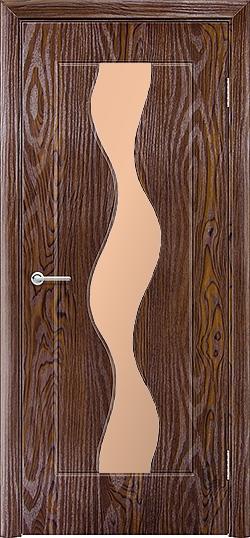 Межкомнатная дверь ПВХ Водопад дуб шоколадный 3