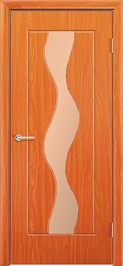 Межкомнатная дверь ПВХ Водопад груша 3