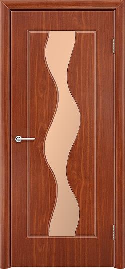 Межкомнатная дверь ПВХ Водопад итальянский орех 3