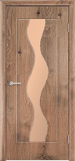 Межкомнатная дверь ПВХ Водопад светлый орех 3