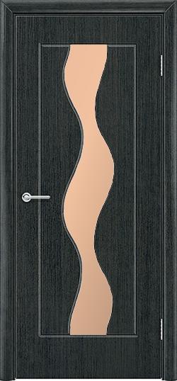 Межкомнатная дверь ПВХ Водопад венге патина 3