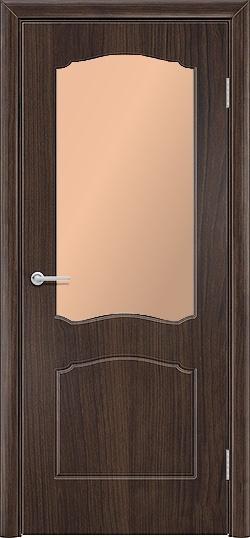 Межкомнатная дверь ПВХ Юлия темный орех 3