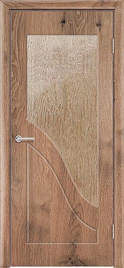 Межкомнатная дверь ПВХ Жасмин светлый орех 3