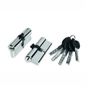 Цилиндр межкомнатный ключ-ключ хром 1