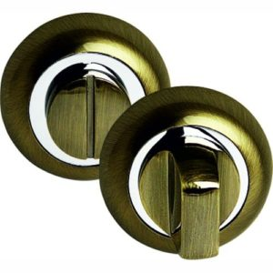 Фиксатор сантехнический круглый бронза 3