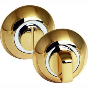 Фиксатор сантехнический круглый золото 2