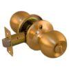 Ручка шар с фиксатором золото 1