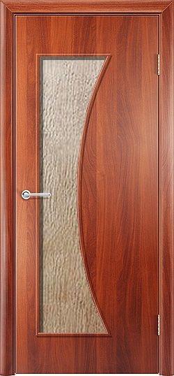 Ламинированная межкомнатная дверь Афина итальянский орех 3