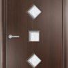 Ламинированная межкомнатная дверь Глухая миланский орех 2