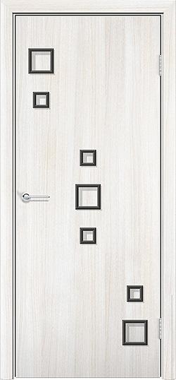 Ламинированная межкомнатная дверь Геометрия белёный дуб 3