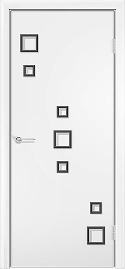 Ламинированная межкомнатная дверь Геометрия белый 3