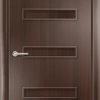 Ламинированная межкомнатная дверь Бамбук венге премиум 1