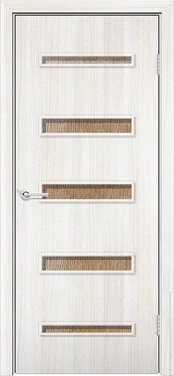 Ламинированная межкомнатная дверь Горизонт 2 белёный дуб 3