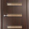 Ламинированная межкомнатная дверь Бамбук итальянский орех 1