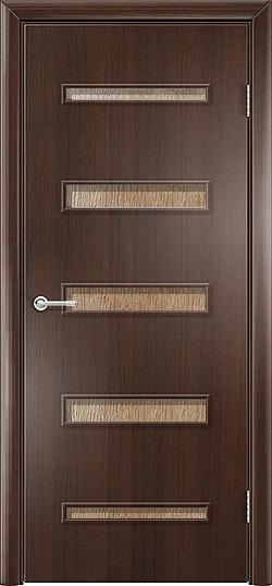 Ламинированная межкомнатная дверь Горизонт 2 венге премиум 3