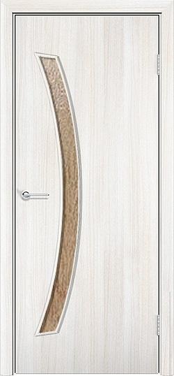 Ламинированная межкомнатная дверь Катана белёный дуб 3