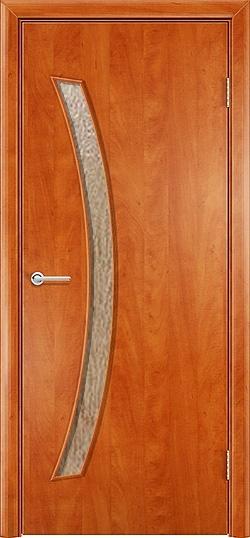 Ламинированная межкомнатная дверь Катана груша 3