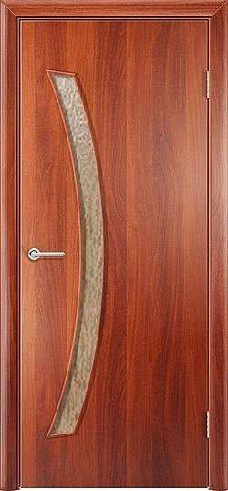 Ламинированная межкомнатная дверь Катана итальянский орех 3