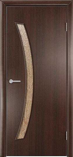 Ламинированная межкомнатная дверь Катана венге премиум 2