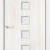 Ламинированная межкомнатная дверь Волна белый 1