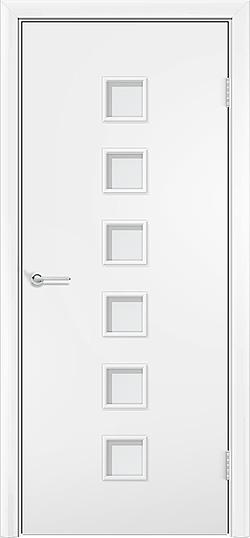 Ламинированная межкомнатная дверь Комфорт белый 3