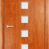 Ламинированная межкомнатная дверь Квадро итальянский орех 2