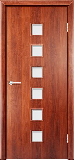Ламинированная межкомнатная дверь Комфорт итальянский орех 3