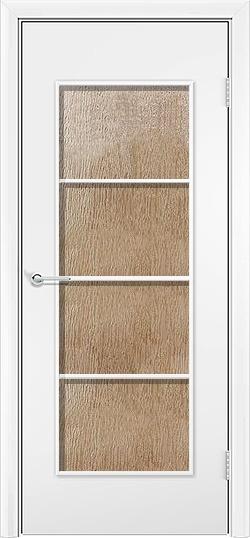 Ламинированная межкомнатная дверь Квадро белый 3