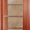 Ламинированная межкомнатная дверь Лесенка миланский орех 2