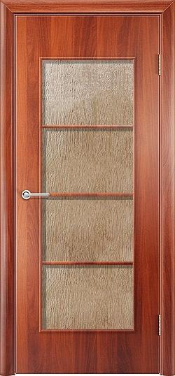 Ламинированная межкомнатная дверь Квадро итальянский орех 3
