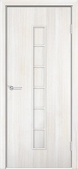 Ламинированная межкомнатная дверь Лесенка белёный дуб 3