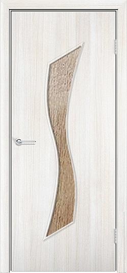 Ламинированная межкомнатная дверь Лиана белёный дуб 3