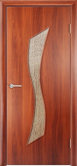 Ламинированная межкомнатная дверь Лиана итальянский орех 3