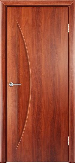 Ламинированная межкомнатная дверь Луна итальянский орех 3