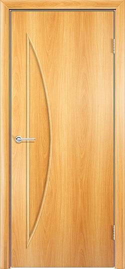Ламинированная межкомнатная дверь Луна миланский орех 3